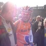 2007 Partenza Milano-Sanremo con il futuro vincitore Oscar Freire